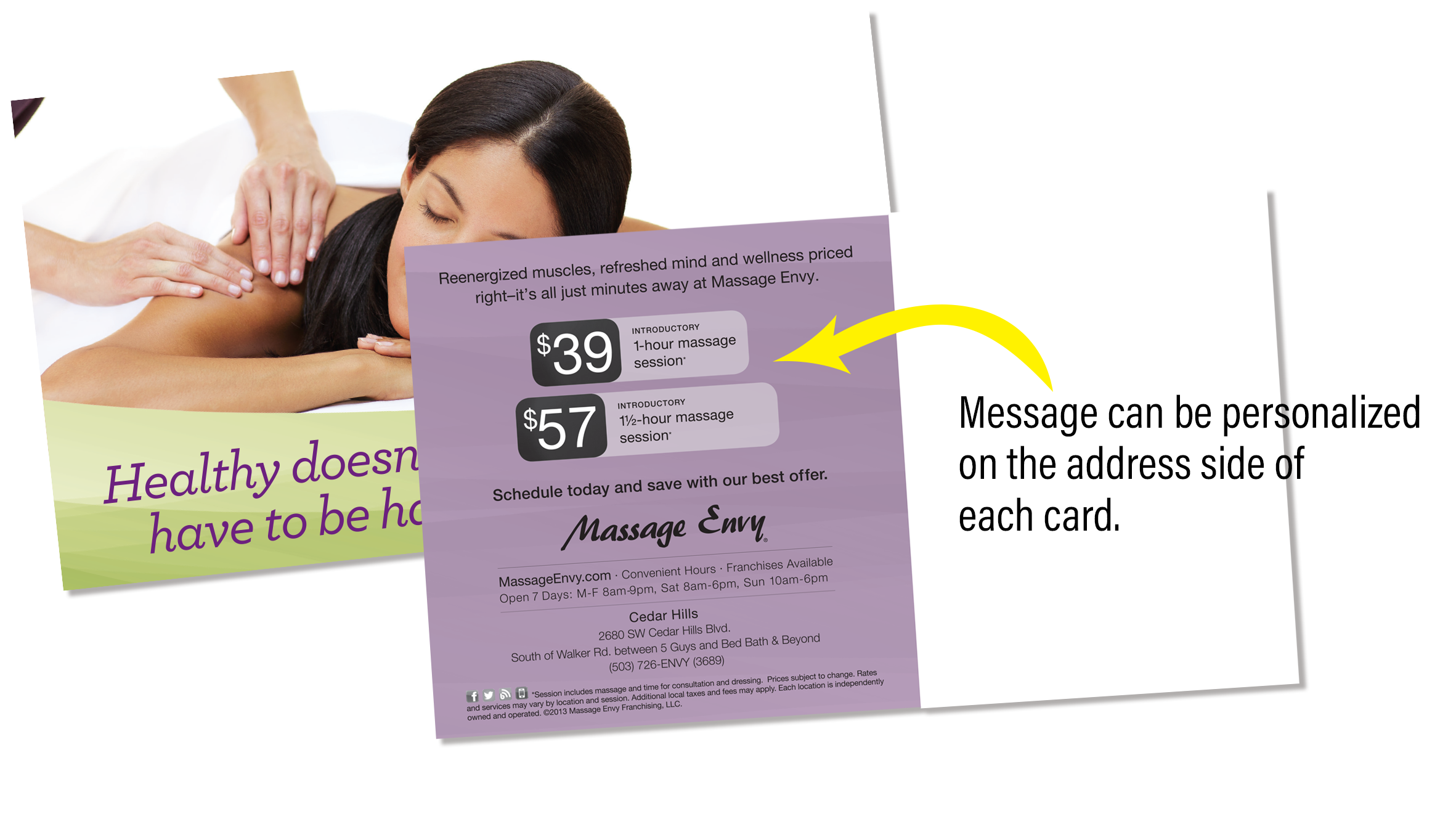Message Smart Card Direct Mail Product Example